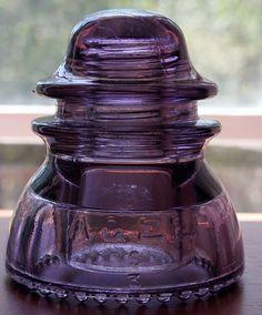 Glass Insulators - Purple S Mould AGEE CD154