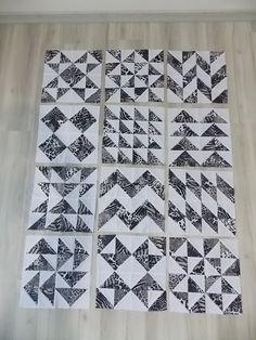 .: Patchwork: triangulo de meio quadrado