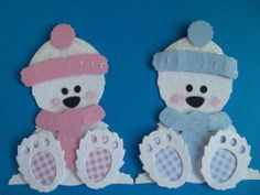 Snow White Sitting Winter Boo Bear Die Cuts