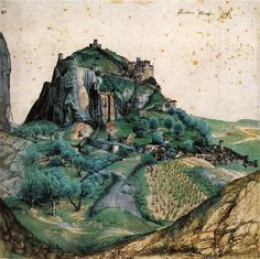 View of the Arco Valley in the Tyrol, Albrecht Durer [1495]