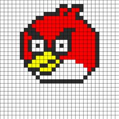 Angry Birds Perler Bead Pattern | Bead Sprites | Characters Fuse Bead Patterns