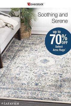 Showcasing an ancient Oriental pattern paired with a thoroughly modern over-dyed design, this Safavieh rug features a grey background accented with shades of royal blue, turquoise, and ivory. Up to 70% off Select Safavieh Area Rugs*
