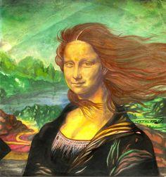 """""""Mona Lisa 3-D, Electric Fan 2"""" - art by Leopoldo 'Jun' Dayo, via Tú Lisa, yo Conda"""