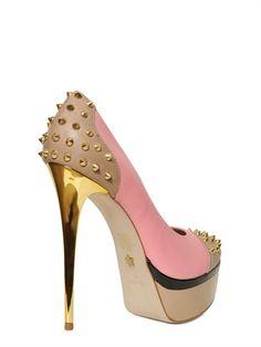 KG KURT GEIGER ♥ Spiked Platform Pumps with golden Stiletto Heel