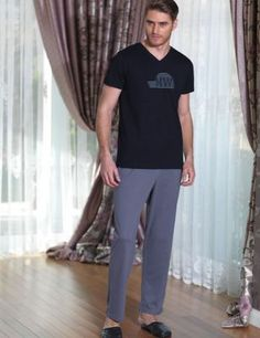Şahinler - Şahinler Kısa Kollu V Yakalı Uzun Pijama Takım Suits, Fashion, Babydoll Sheep, Moda, Fashion Styles, Suit, Wedding Suits, Fashion Illustrations