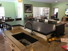 Wood Islands, Kitchen Island, Sink, Home Decor, Island Kitchen, Sink Tops, Vessel Sink, Decoration Home, Room Decor