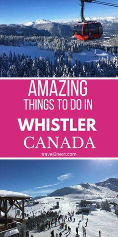 10 things to do in Whistler when you're not skiing. #whistler #ski #winter #canada #explorecanada #explorebc #travel #skiing