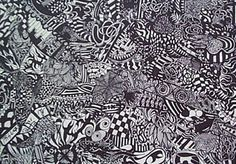 patterned ink drawings for high school art lesson