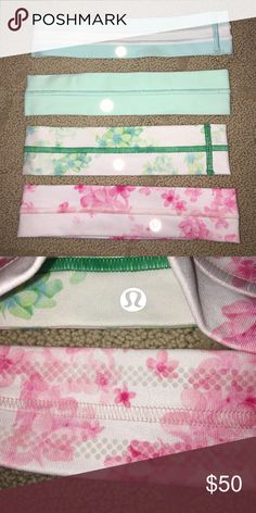 Lululemon headbands all of these are basically brand new headbands. I will sell them separately for $15 each or all four for $50! lululemon athletica Accessories Hair Accessories