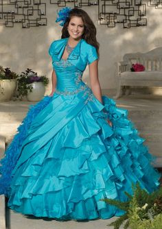 Cheap quinceanera dresses, Buy Quality dress 15 years directly from China blue quinceanera dress Suppliers: Shiny Blue Quinceanera Dresse With Jacket Pleated Collar Vestidos De 15 Anos Ball Gown Dresses 15 Years Vestido De Debutante Mori Lee Quinceanera Dresses, Robes Quinceanera, Tulle Ball Gown, Ball Gown Dresses, Beaded Dresses, Evening Dresses, Dress 15, Masquerade Dresses, Masquerade Party