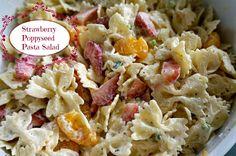 Strawberry Poppyseed Pasta Salad #apinchofchaos #pastasalad