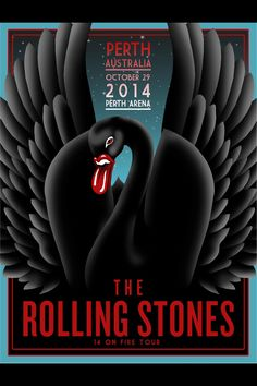 The Rolling Stones - 14 on Fire Tour - Perth Australia - Mini Print The Rolling Stones, Rolling Stones Concert, Tour Posters, Band Posters, Mick Jagger, Pop Rock, Rock N Roll, Recital, Concert Rock