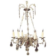 Early 19th Centuy Italian Brass and Silver Plate Chandelier | From a unique collection of antique and modern chandeliers and pendants at…