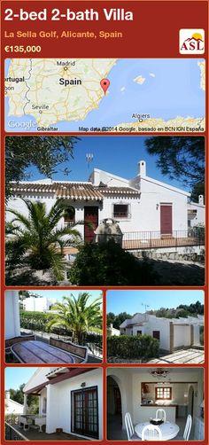 2-bed 2-bath Villa in La Sella Golf, Alicante, Spain ►€135,000 #PropertyForSaleInSpain