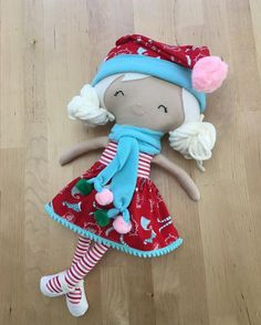 American Girl Doll Holiday Nighty Pattern Fits 18 by julieoldcrow