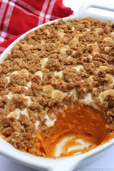 This is absolutely the BEST Sweet Potato Casserole ever. Since this casserole includes a delicious streusel type topping, it makes it like no other. Perfect for Thanksgiving and Christmas dinners. dinner The Best Sweet Potato Casserole Best Sweet Potato Casserole, Sweet Potato Pecan, Sweet Potato Recipes, Corn Casserole, Casserole Recipes, Thanksgiving Side Dishes, Thanksgiving Recipes, Holiday Recipes, Thanksgiving Blessings