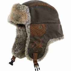 f472d908ae6 A classic bomber hat that combines a rugged waxed cotton look and super  thick soft faux fur lining for ultimate warmth and comfort. One size fits  most.