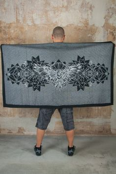 Cyber Goth Silver Crow Blanket and Shawl. The perfect Goth Decor Picnic Blanket and Scarf for Sith Raven Cosplay with amazing Crow Print   Our Crow Blanket Scarf if its getting cold again in the outdoor festival season ;)   Perfect as accessory to create a look like Assassins Fashion , Dark Mori or Raven Cosplay, Blanket Shawl, Dark Mori, Sith, Crow, Picnic Blanket, Jedi Outfit, Pixie Outfit, Dystopian Fashion