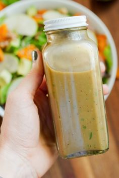 Gluten free - Paleo - Vegan - Vegetarian - Avocado Balsamic Dressing // Take your balsamic vinaigrette to the next level by using avocado to replace some of the oil. The result is a rich, flavorful and creamy dressing you'll want to drizzle on everything. Avocado Dressing, Salad Dressing Recipes, Salad Dressings, Avocado Vinaigrette, Healthy Salads, Healthy Eating, Healthy Recipes, Healthy Fats, Chutney