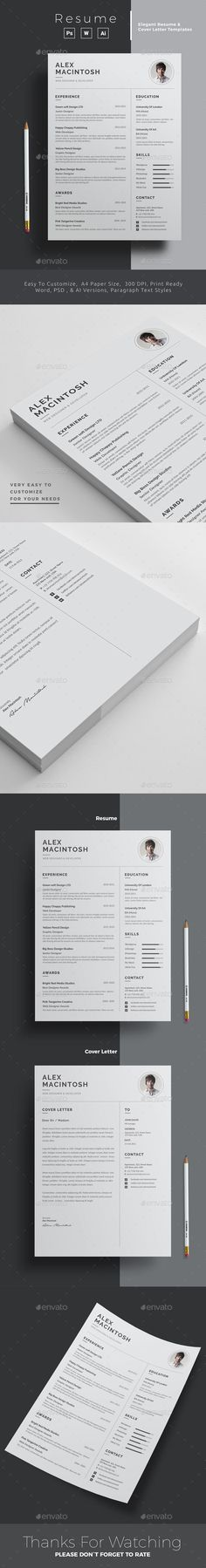 Buy Resume by upra on GraphicRiver. Resume Word Template / CV Template with super clean and modern look. Clean Resume Template page designs are easy to u. College Resume Template, Best Resume Template, Cv Template, Design Templates, Resume Design, Brochure Design, Job Resume, Resume 2017, Resume Words Skills