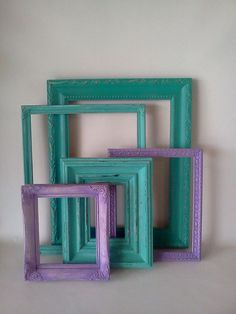 Purple and Turquoise Picture Frame Lot by MadisonRoseVintage, $65.00