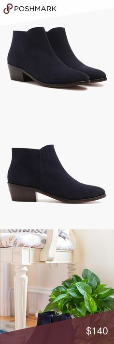 "Thursday Boot Co Downtown Boot Midnight Suede Sz 8 Thursday boot company's downtown boot in midnight suede WeatherSafe suede Full leather interior lining Padded sole Grooved outsole Heel 1.75"" Shaft 4"" Brand new, never worn, no box   Retails for $149 at https://thursdayboots.com/products/womens-downtown-midnight-suede Thursday Boot Company Shoes Ankle Boots & Booties"