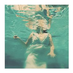 Underwater Portrait Dive 10x10 Surreal Photograph Teal by ellemoss,