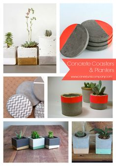 Concrete Coasters & Planters | MakeMN | Cement Coaster DIY Workshop | MakeMN | Carver Junk Company