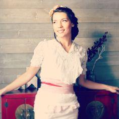 Headband mariage romantiques fleurs couleur ivoire, rose poudré et cappuccino. : Accessoires coiffure par mes-tites-lilis