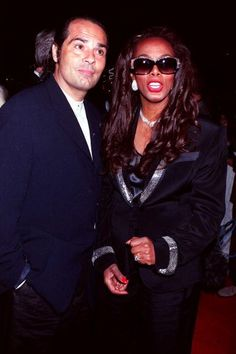 """Donna Summer and her husbandBruce Sudano at """"A Midsummer Night's Party to Benefit 'MusiCares'"""" in 1995."""
