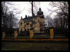 A house in a park close to the Vasa Museum in Stockholm
