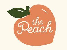 The peach logomark smoothie shop fruit illustration peach branding logo smo Spot Illustration, Illustrations, Smoothie Shop, Peach Party, Posca Art, Peach Aesthetic, Just Peachy, Fruit Art, Shop Logo