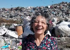 Bernarda Gallardo at the rubbish dump in Puerto Montt...She adopts dead babies in order to give them dignity, a name and a burial...God bless her richly...Please read her story, it's heart-breaking yet truly inspiring:)