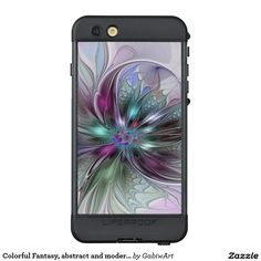 Colorful Fantasy, abstract and modern Fractal Art LifeProof® NÜÜD® iPhone 6s Plus Case