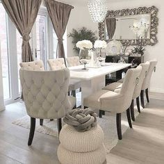 Dining Room Decor - Get the Modern Dining Room Furniture For Your Home Dining Room Table Decor, Living Room Decor Cozy, Elegant Dining Room, Luxury Dining Room, Dining Room Sets, Decor Room, Dining Room Design, Dining Room Furniture, Home Decor