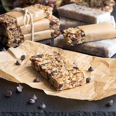 Low Carb Chewy Granola Bars -sliced almonds, walnuts, pecans, goji berries, raw pumpkin seeds, sunflower seeds, golden flax meal, sugar free chocolate chips, cinnamon, ground ginger, butter, powdered sweetener, fiber syrup/VitaFiber/sugar free pancake syrup
