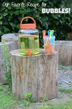 Set up a homemade bubble station so your kids can play without needing your help every five minutes.   29 Boredom Busters Your Kids Will Actually Love