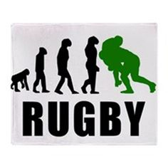 Rugby Tackle Evolution (Green) Throw Blanket by KWGdesigns - CafePress Cycling Quotes, Cycling Art, Rugby Images, Rugby Rules, Rugby Nations, Rugby Training, Women's Cycling Jersey, Cycling Jerseys, Rugby Sport