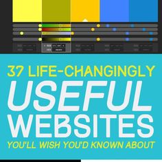 37 Life-Changingly Useful Websites You Should Know About – hacks for school Claves Wifi, Application Utile, App Design, Tech Hacks, E Book, Educational Websites, Educational Crafts, Educational Technology, Phish