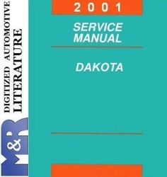 2001 Dodge Dakota AN and R1 Original Service Manual PDF format suitable for Windows XP, DOWNLOAD