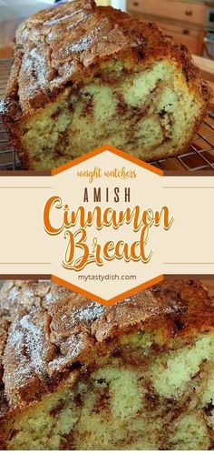 Amish Cinnamon Bread weight watchers smart points friendly - Breads - Ideas of Breads Amish Recipes, Easy Bread Recipes, Baking Recipes, Top Recipes, Yummy Recipes, Breakfast Bread Recipes, Dutch Recipes, Free Recipes, Desserts Keto