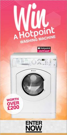FMAGazine | Win a HOTPOINT WASHING MACHINE! Competition is now closed - Find Me A Gift Blog