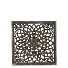 Carve Tempeltavla, svart (45x45 cm) Carving, Wood Carvings, Sculptures, Printmaking, Wood Carving