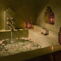 Mediterranean Bathroom Tub Design