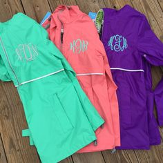 Monogrammed Rain Coat Jacket Rain Coat Personalized Gift Monogram... ($50) ❤ liked on Polyvore featuring outerwear, coats, aqua, women's clothing, green coat, hooded raincoat, monogrammed rain jacket, monogrammed rain coat and waterproof rain jacket