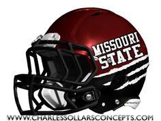 Charles Sollars Concepts @Charles Sollars @Charles Sollars http://www.charlessollarsconcepts.com/missouri-state-bears-black-helmet-concepts/ #mostate #msu #SMSU #mostate #bears #missouristate