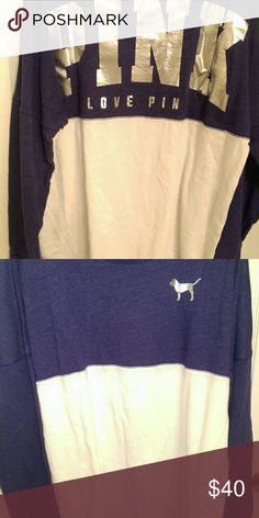 Victoria's Secret Heathered Crew Excellent condition. Blue/Purple. Trying to make a little extra money for a trip so if this doesn't sell by 2/19 I will be taking down this listing. Victoria's Secret Sweaters Crew & Scoop Necks