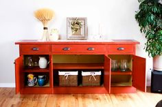 DIY Furniture Plan from Ana-White.com  How to build a wood sideboard inspired by Restoration Hardware Salvaged Wood Sideboard.