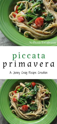 Jenny Craig Recipe Creation: Piccata Primavera