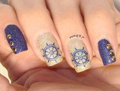 nautical nails - Google Search
